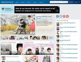 mydramalist.com screenshot