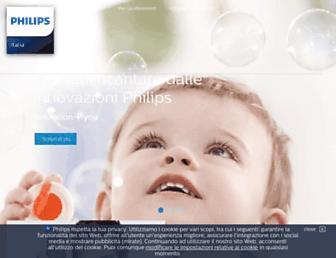 Main page screenshot of philips.it