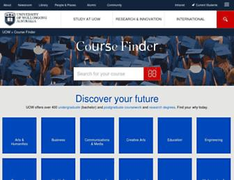 coursefinder.uow.edu.au screenshot