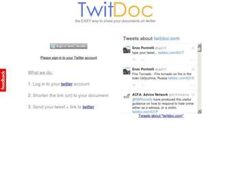 Thumbshot of Twitdoc.com