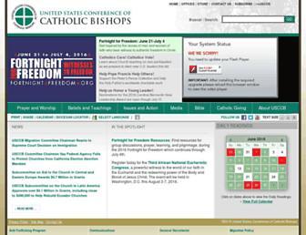 Main page screenshot of usccb.org