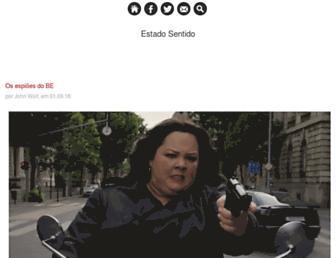 Main page screenshot of estadosentido.blogs.sapo.pt
