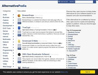 alternativepedia.com screenshot