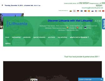 visitlithuania.net screenshot