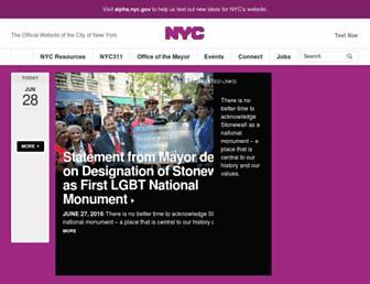 on.nyc.gov screenshot