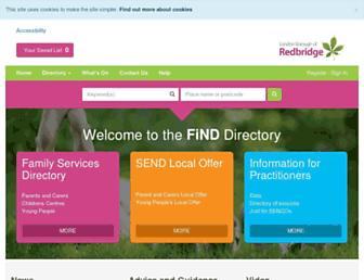 find.redbridge.gov.uk screenshot
