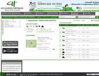 lescourseshippiques.com screenshot