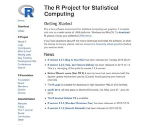 r-project.org screenshot