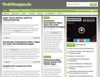 Main page screenshot of techbanger.de