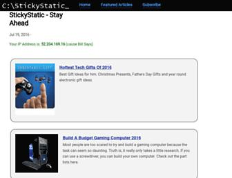 stickystatic.com screenshot