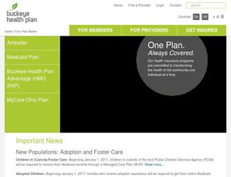 buckeyehealthplan.com screenshot
