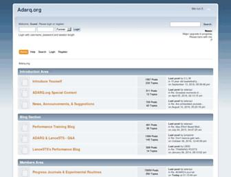 Main page screenshot of adarq.org