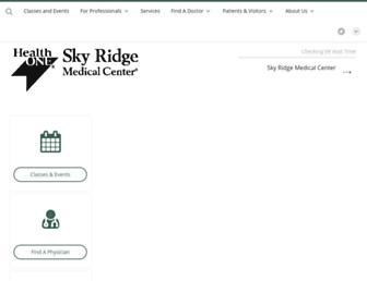 skyridgemedcenter.com screenshot