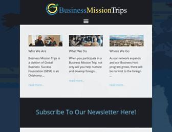 Main page screenshot of gbsf.org