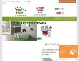 Main page screenshot of shophogar.es