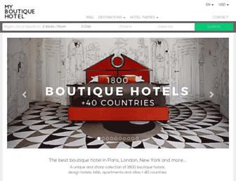 myboutiquehotel.com screenshot