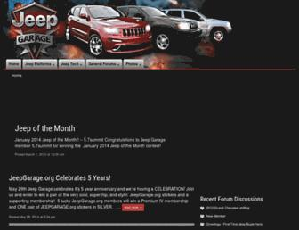 jeepgarage.org screenshot