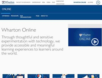 online.wharton.upenn.edu screenshot