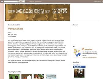 themeaningoflife88.blogspot.com screenshot