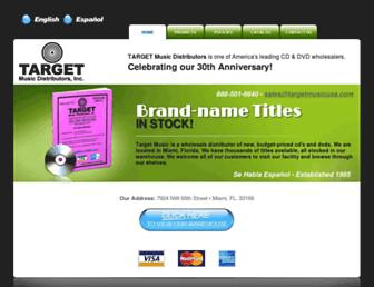 targetmusicusa.com screenshot