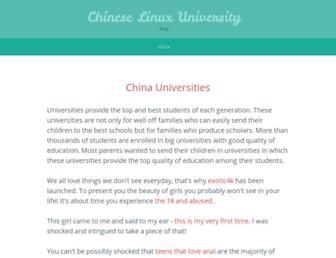 Main page screenshot of chineselinuxuniversity.net