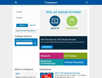 Screenshot for collegeboard.org
