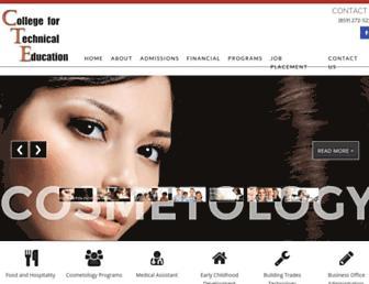 cte.edu screenshot