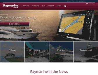 raymarine.com screenshot