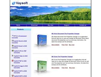 vaysoft.com screenshot