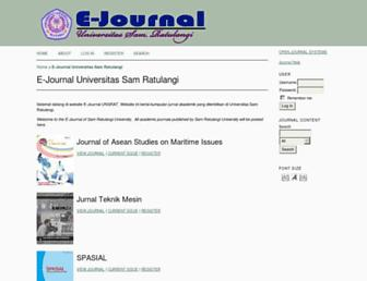 ejournal.unsrat.ac.id screenshot