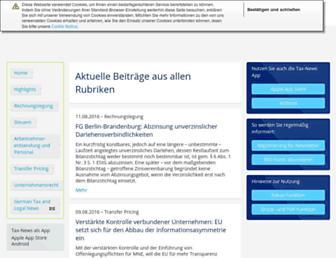 deloitte-tax-news.de screenshot