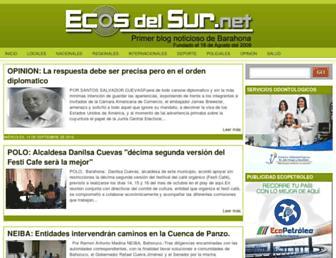 Thumbshot of Ecosdelsur.net