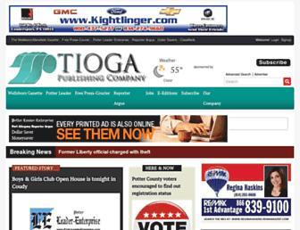 tiogapublishing.com screenshot
