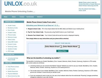 unlox.co.uk screenshot