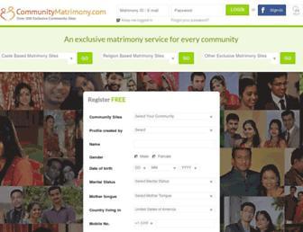 communitymatrimony.com screenshot