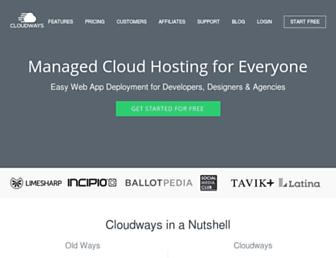 cloudways.com screenshot