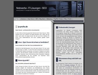 Main page screenshot of ip-profis.de