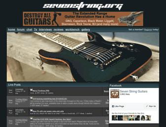 Main page screenshot of sevenstring.org