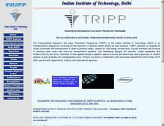 Main page screenshot of tripp.iitd.ernet.in