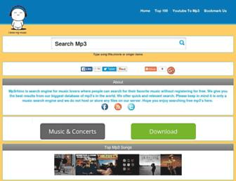 mp3rhino.com screenshot