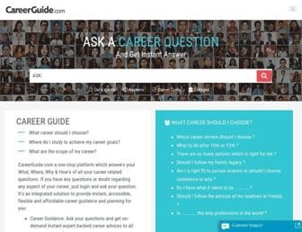 careerguide.com screenshot