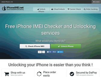 iphoneimei.net screenshot