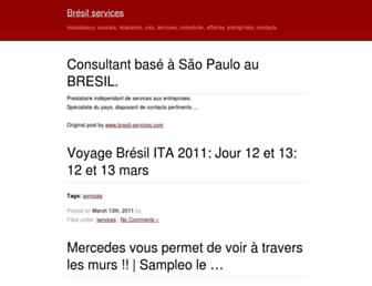Main page screenshot of bresil-services.biz
