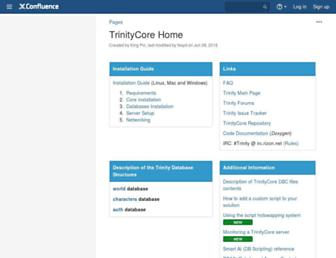 trinitycore.atlassian.net screenshot