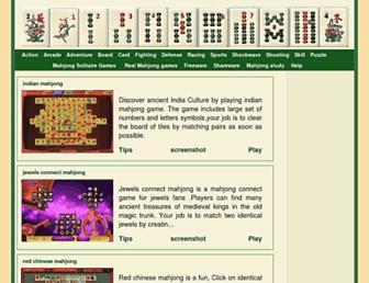 Main page screenshot of play-free-mahjong-games.org