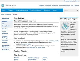 cfasociety.org screenshot