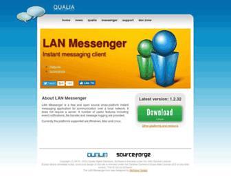 lanmsngr.sourceforge.net screenshot
