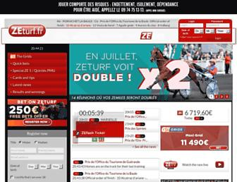 Thumbshot of Zeturf.fr