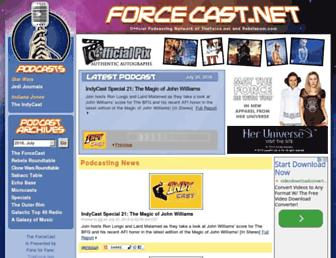 Main page screenshot of forcecast.net