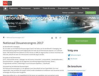 Main page screenshot of douanecongres.nl